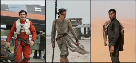 Poe, Rey, Finn-El Color del Cine